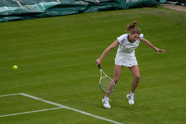 Steffi Graf slice backhand