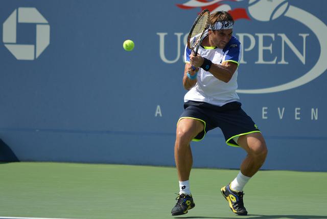 David Ferrer backhand