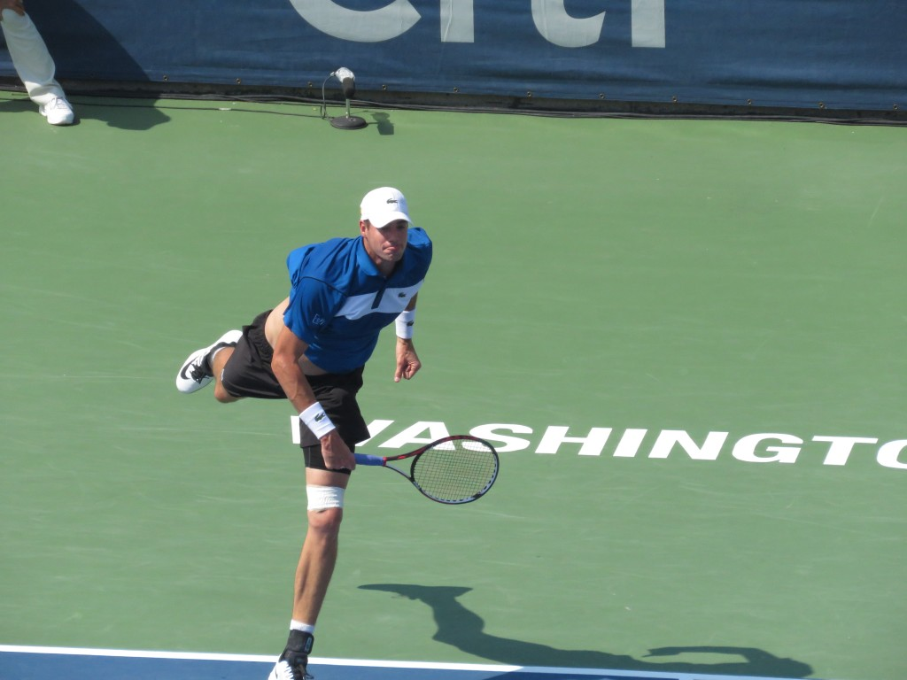 John Isner 2015 Citi Open Serve