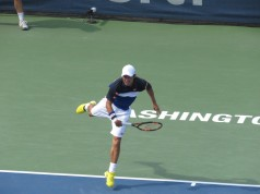 Kei Nishikori Citi Open Semifinals Serve