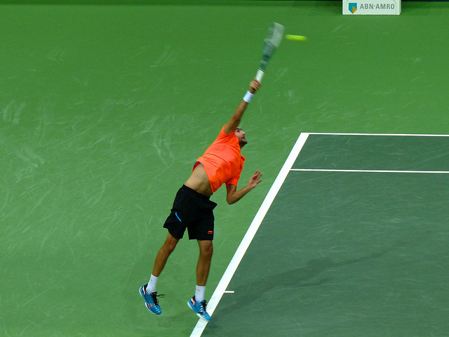 Marin Cilic: Serving