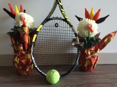 Thanksgiving Tennis Turkeys Giving Thanks