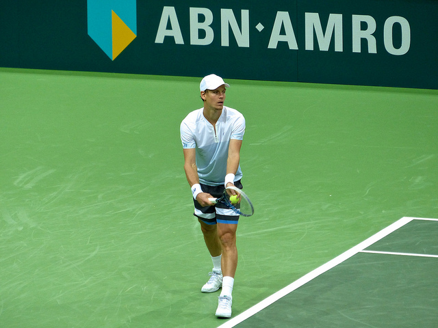 Tomas Berdych body serve