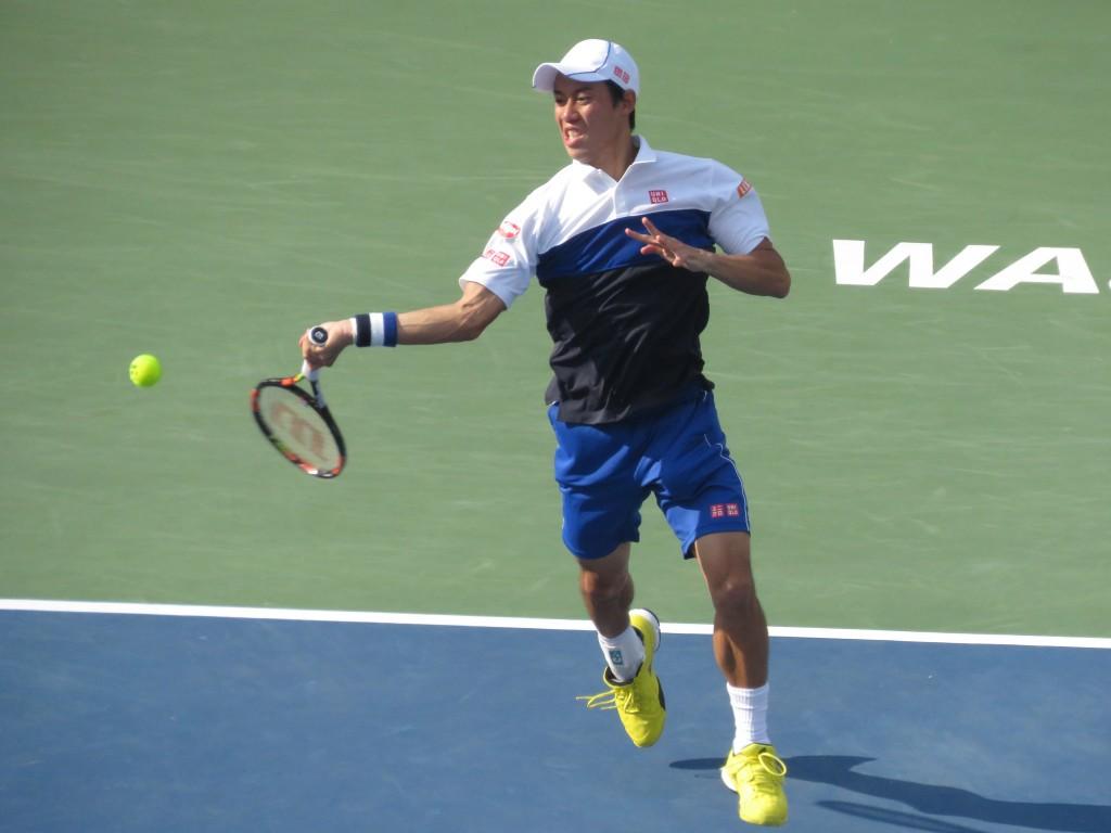 Kei Nishikori Citi Open Final Forehand