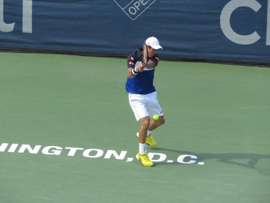 Kei Nishikori Citi Open Semifinals Backhand