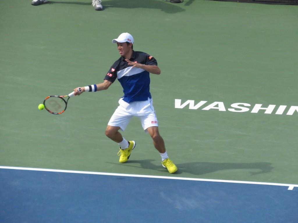 Kei Nishikori Citi Open Semifinals Forehand