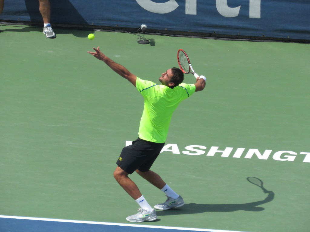 Marin Cilic Citi Open 2015 Serve