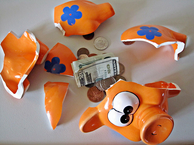 Broken Piggy Bank - Tennis on a Budget