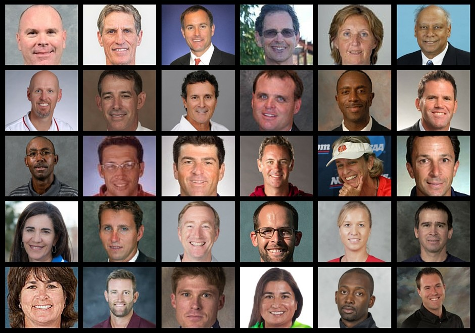 College Tennis Coaches Collage