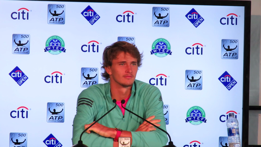 Citi Open 2018: Alexander Zverev Press Conference
