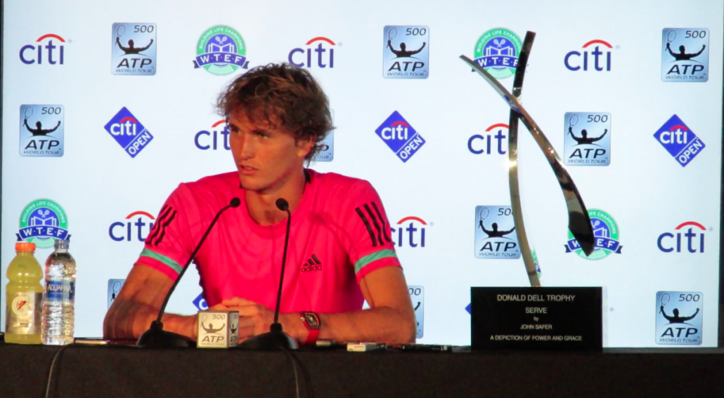 Citi Open 2018: Alexander Zverev Championship Press Conference